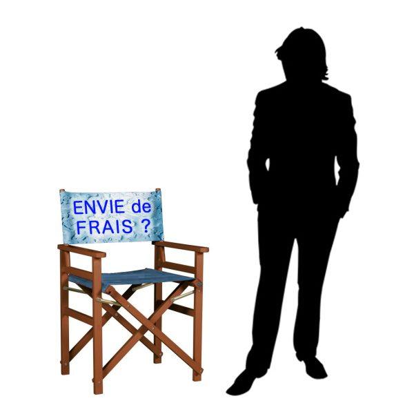 Chaise metteur en scène personnalisée