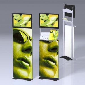 Totem porte ecran Rapido LCD
